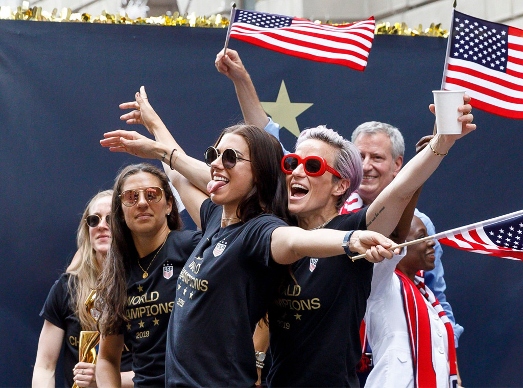 Alex Morgan, Megan Rapinoe, U.S. Women's Soccer Team, Ticker Tape Parade